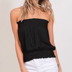 cy fashion Tops - Ribbed smocking tube top. Size small